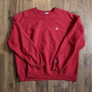 Champion Crewneck Sweatshirt Red XXL
